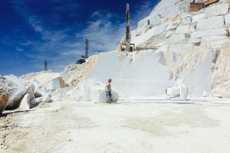 A marble quarry in Carrara, Italy