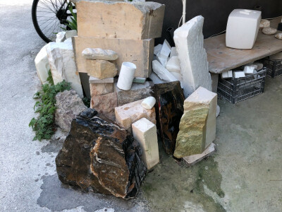 a pile of different types of marble